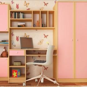Секция за детска стая Нанси - розов