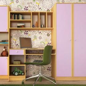 Секция за детска стая Нанси - лилаво