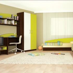 Комплект за  детска стая Томас - зелено