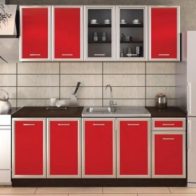 Кухненски комплект Регал - цвят червено гланц