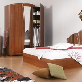 Бианка - спален комплект , светъл орех
