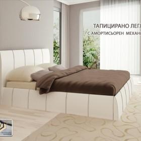 Капри - тапицирано легло , бяло