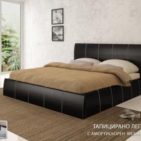 Капри - тапицирано легло , черно