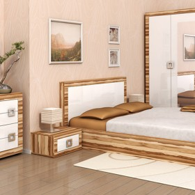 Кристина - спален комплект, орех балтимор